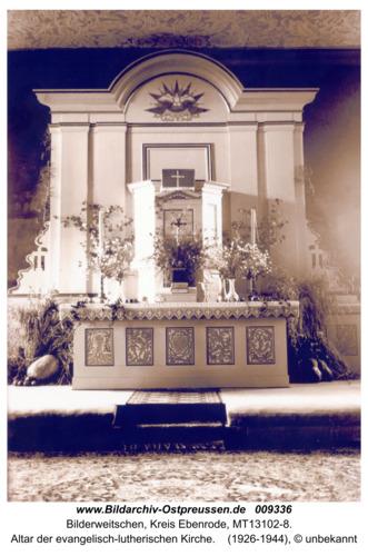 Bilderweiten, Altar der evangelisch-lutherischen Kirche