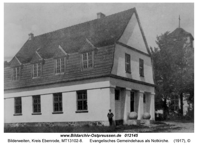 Bilderweiten, Evangelisches Gemeindehaus als Notkirche
