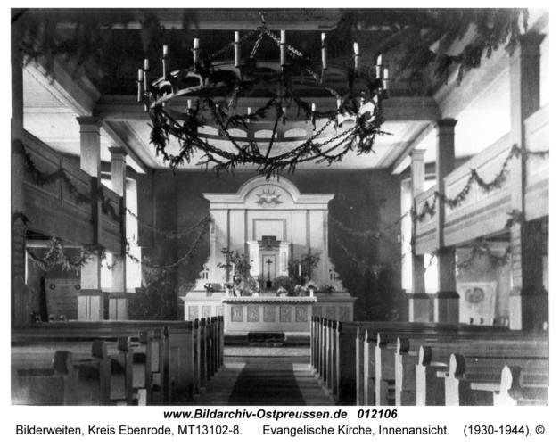 Bilderweiten, Evangelische Kirche, Innenansicht