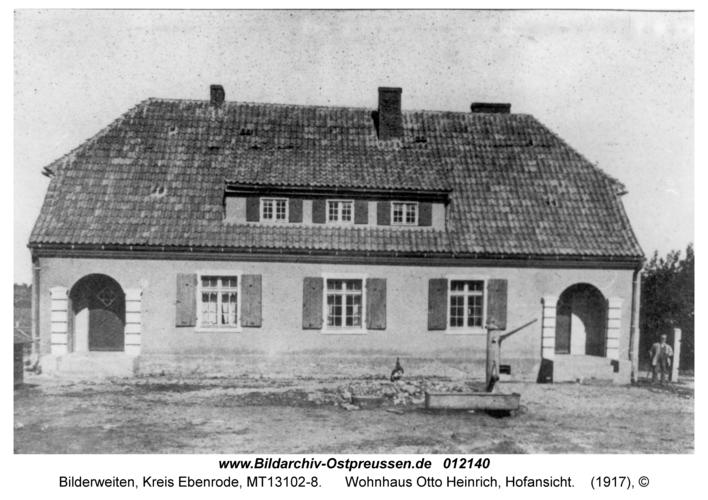 Bilderweiten, Wohnhaus Otto Heinrich, Hofansicht
