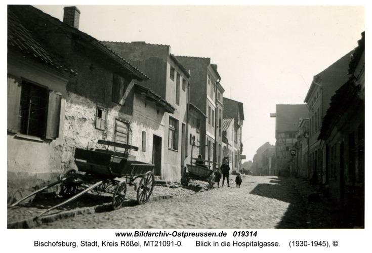 Bischofsburg, Blick in die Hospitalgasse