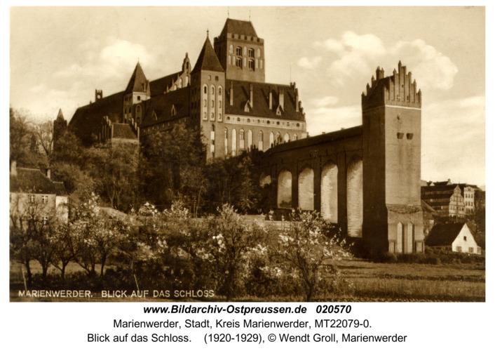Marienwerder, Blick auf das Schloss