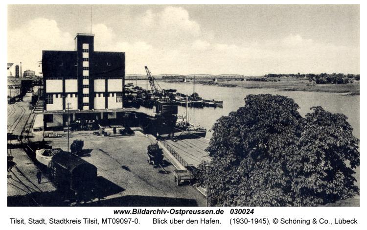 Tilsit, Blick über den Hafen