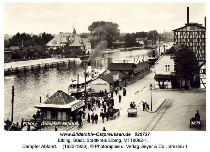 Elbing, Dampfer Abfahrt
