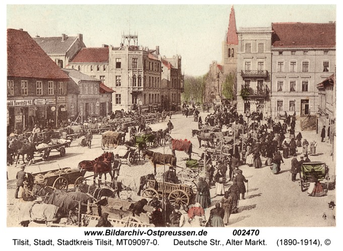 Tilsit, Deutsche Str., Alter Markt