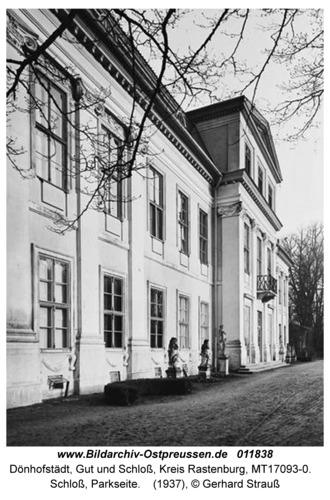 Dönhofstädt, Schloß, Parkseite