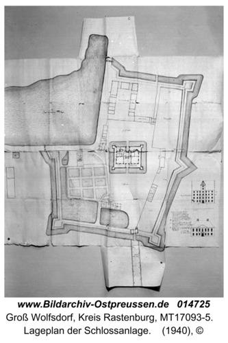 Groß Wolfsdorf, Lageplan der Schlossanlage