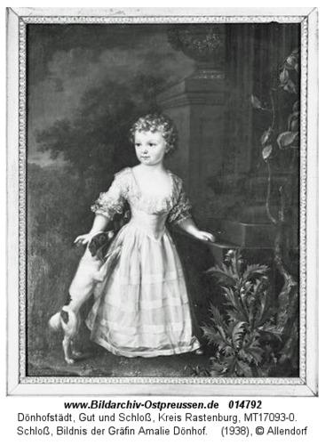 Dönhofstädt, Schloß, Bildnis der Gräfin Amalie Dönhoff