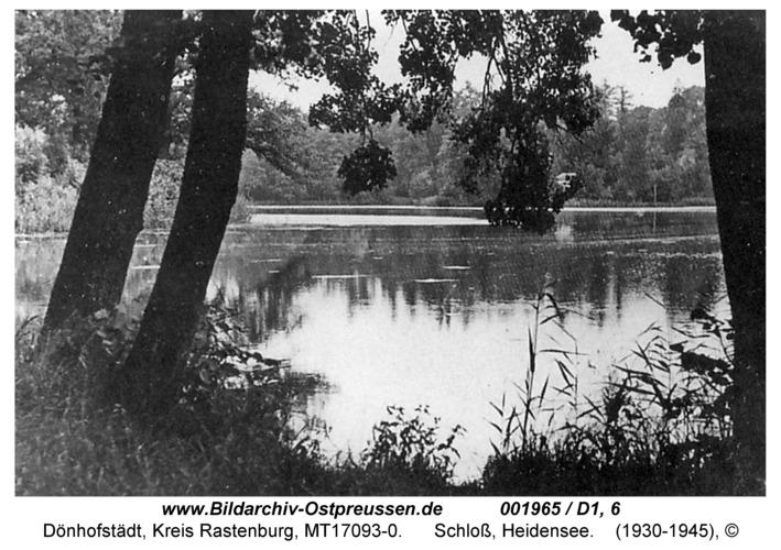 Dönhofstädt, Schloß, Heidenteich