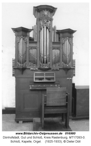 Dönhofstädt, Schloß, Kapelle, Orgel
