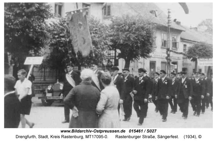 Drengfurt, Rastenburger Straße, Sängerfest
