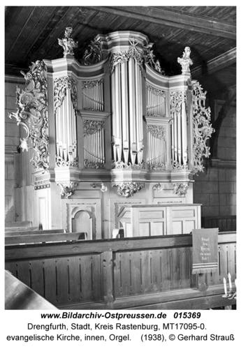 Drengfurt, evangelische Kirche, innen, Orgel