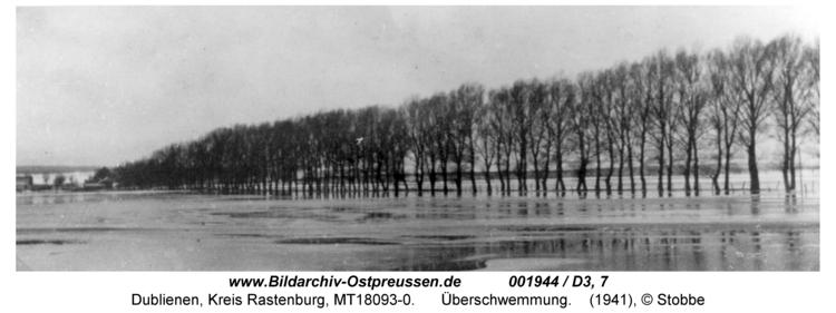 Dublienen, Überschwemmung