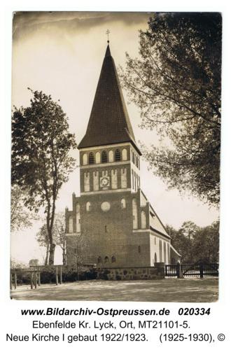 Ebenfelde Kr. Lyck, Neue Kirche I gebaut 1922/1923