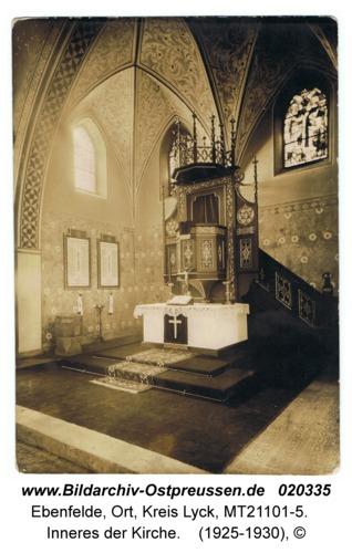 Ebenfelde Kr. Lyck, Inneres der Kirche