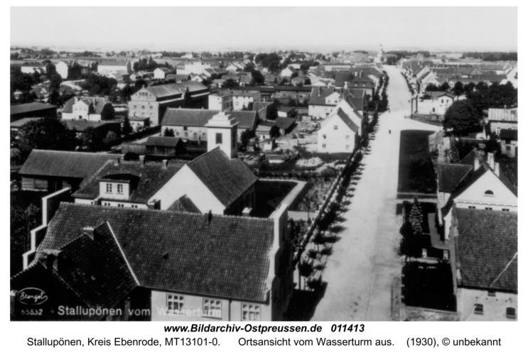Ebenrode, Ortsansicht vom Wasserturm aus