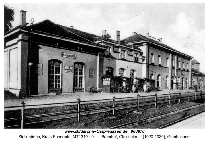 Ebenrode, Bahnhof, Gleisseite