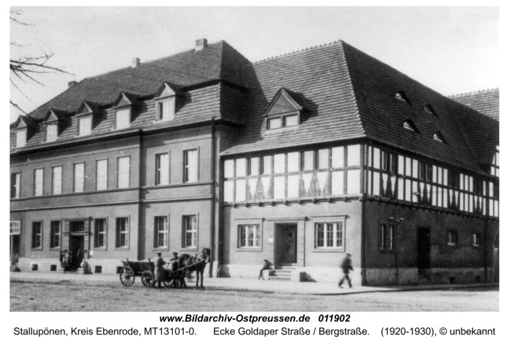Ebenrode, Ecke Goldaper Straße / Bergstraße