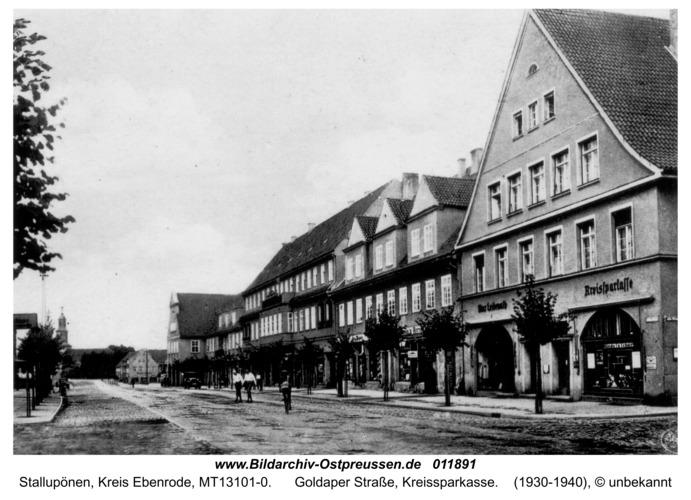 Ebenrode, Goldaper Straße, Kreissparkasse