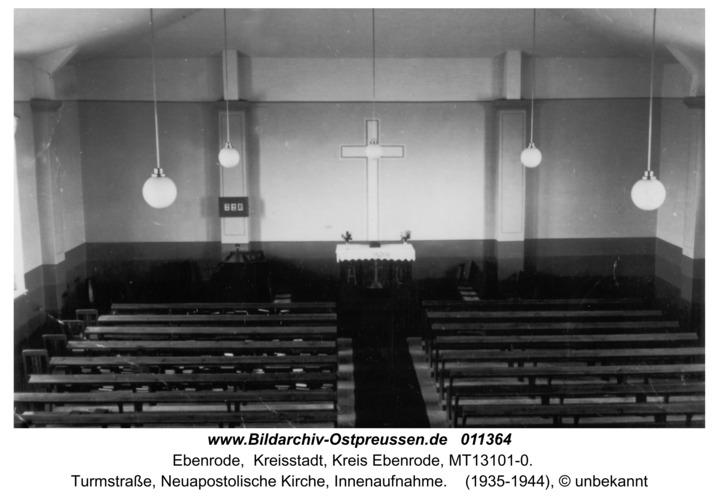 Ebenrode, Innenraum der Neuapostolischen Kirche