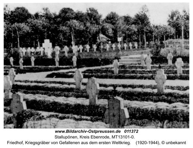 Ebenrode, Kriegsgräberfriedhof aus dem ersten Weltkrieg