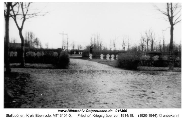 Ebenrode, Kriegsgräber von 1914/18