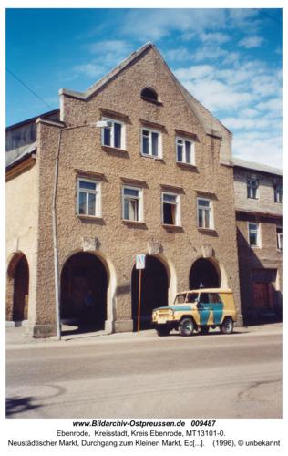 Ebenrode, Neustädtischer Markt, Eckhaus