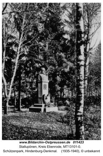 Ebenrode, Schützenpark, Hindenburg-Denkmal