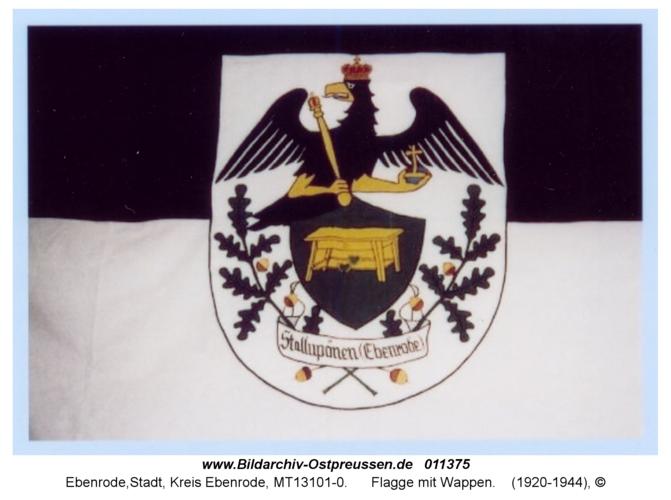 Ebenrode, Flagge mit Wappen
