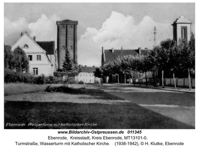Ebenrode, Wasserturm mit katholischer Kirche