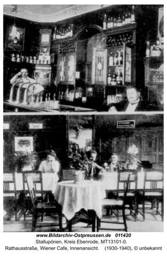 Ebenrode, Im Wiener Cafe, Rathausstraße
