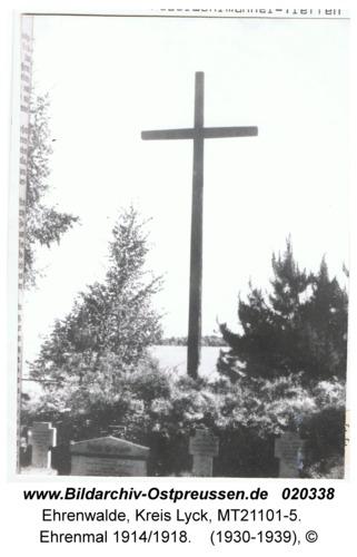 Ehrenwalde, Ehrenmal 1914/1918