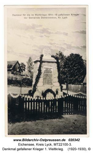 Eichensee, Denkmal gefallener Krieger 1. Weltkrieg