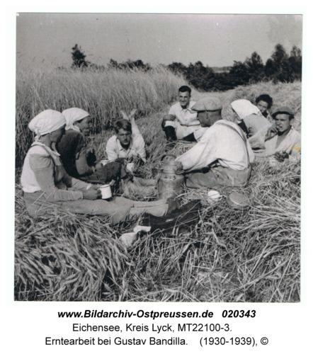 Eichensee, Erntearbeit bei Gustav Bandilla