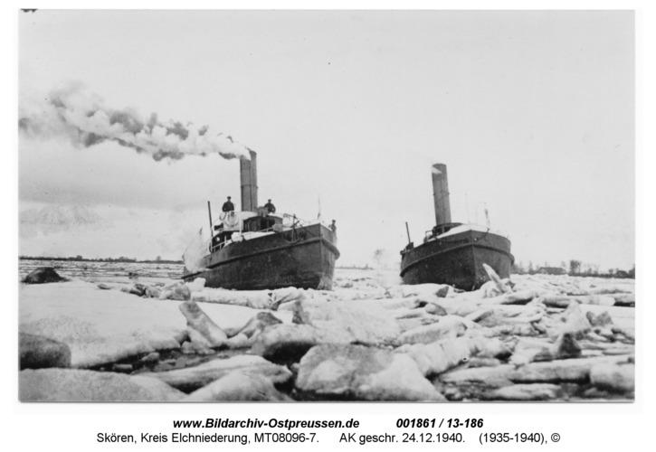 Eisbecher im Einsatz auf Memel und Gilge, AK geschr. 24.12.1940