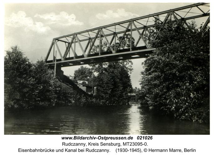 Rudczanny, Eisenbahnbrücke und Kanal bei Rudczanny