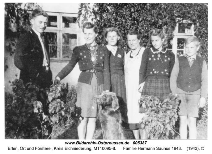 Erlen, Familie Hermann Saunus 1943
