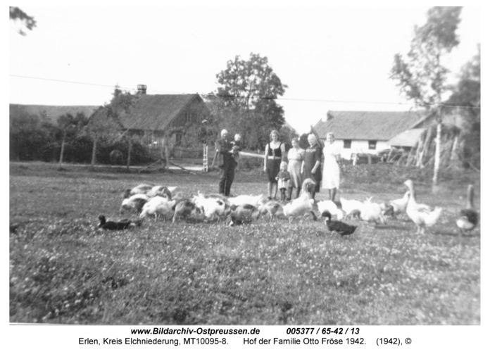 Erlen, Hof der Familie Otto Fröse 1942