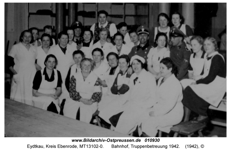 Eydtkau, Bahnhof, Truppenbetreuung 1942