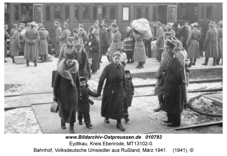 Eydtkau, Bahnhof, Volksdeutsche Umsiedler aus Rußland, März 1941