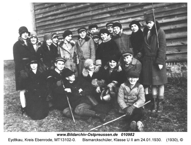 Eydtkau, Bismarckschüler, Klasse U II am 24.01.1930