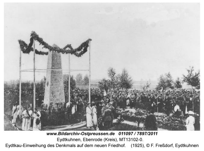Eydtkau-Einweihung des Denkmals auf dem neuen Friedhof