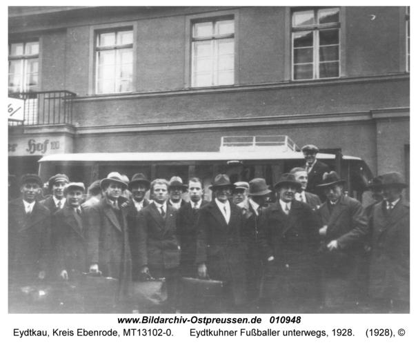 Eydtkau, Eydtkuhner Fußballer unterwegs, 1928