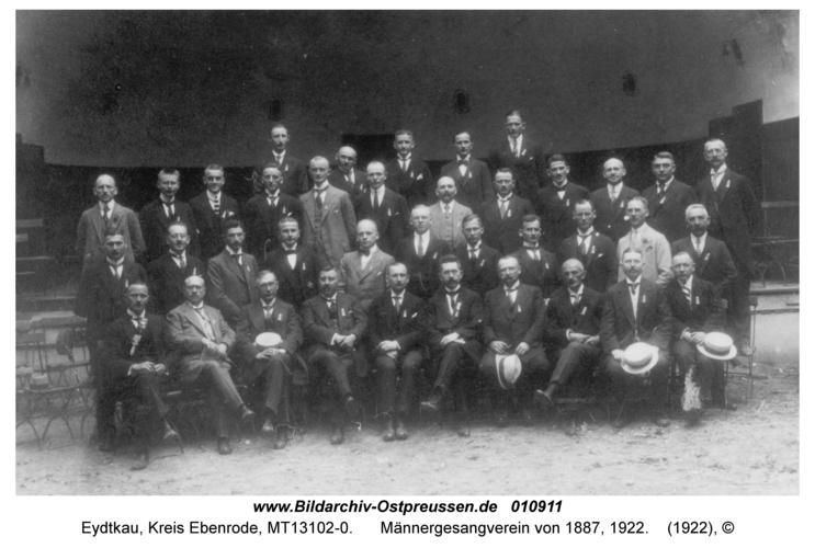 Eydtkau, Männergesangverein von 1887, 1922