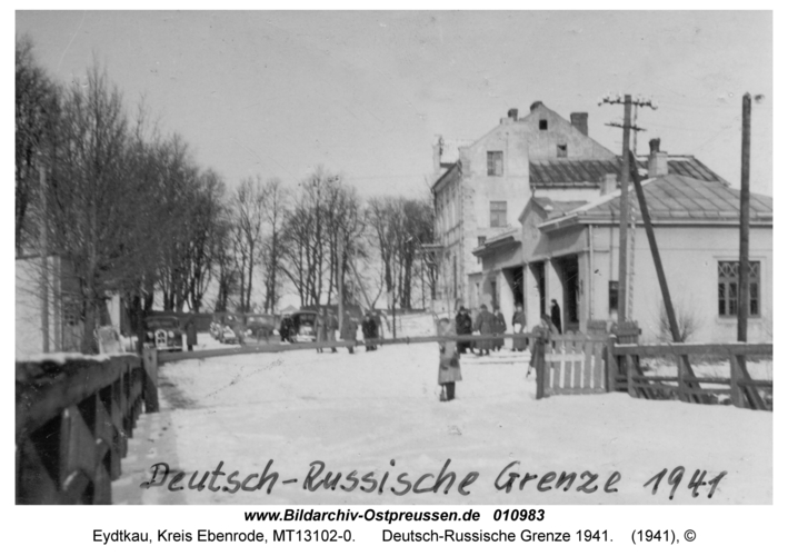 Eydtkau, Deutsch-Russische Grenze 1941