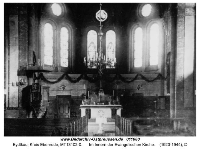 Eydtkau, Im Innern der Evangelischen Kirche
