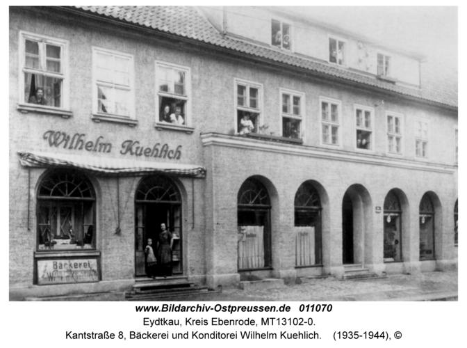 Eydtkau, Kantstraße 8, Bäckerei und Konditorei Wilhelm Kuehlich