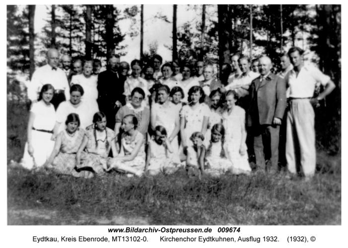 Eydtkau, Kirchenchor Eydtkuhnen, Ausflug 1932