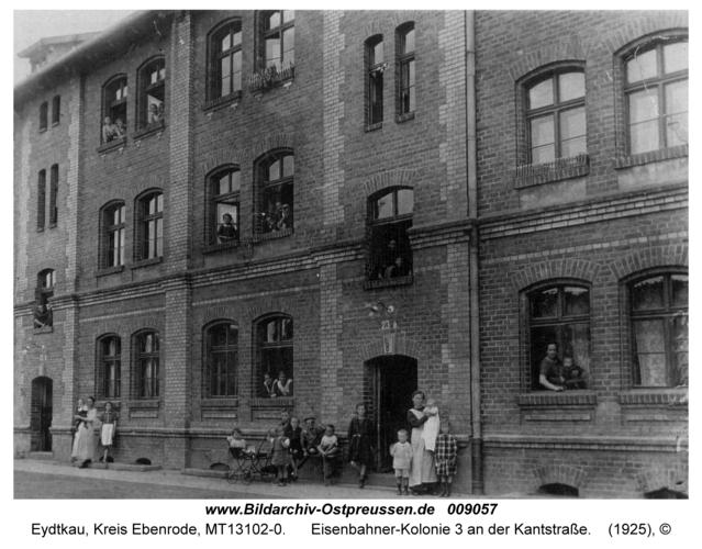 Eydtkau, Eisenbahner-Kolonie 3 an der Kantstraße