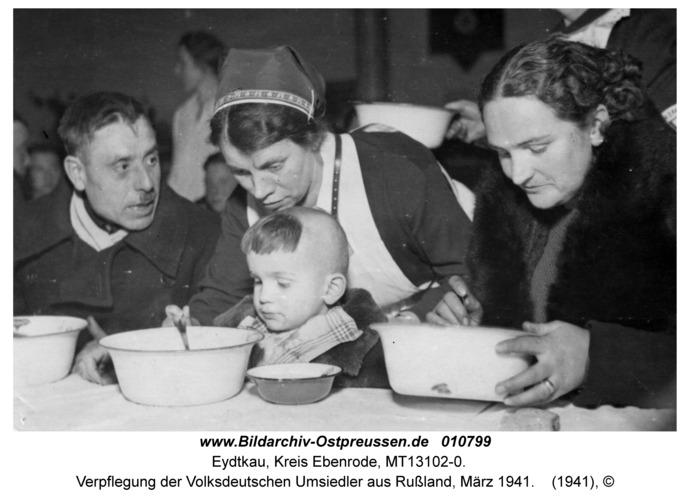 Eydtkau, Verpflegung der Volksdeutschen Umsiedler aus Rußland, März 1941
